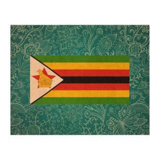 Bandera desapasible de Zimbabwe Papel De Corcho Para Fotos