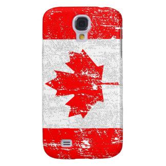 Bandera descolorada de Canadá Funda Para Galaxy S4