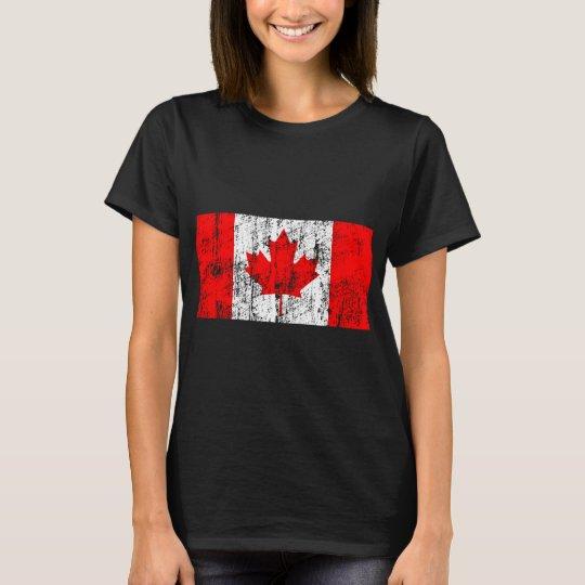 Bandera descolorada de Canadá Playera