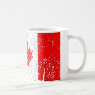 Bandera descolorada de Canadá Taza