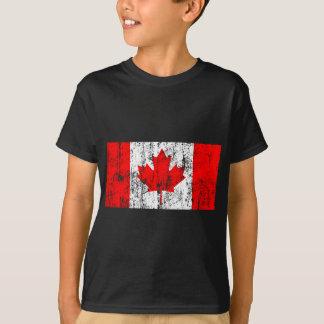 Bandera descolorada de la camiseta de Canadá Playeras