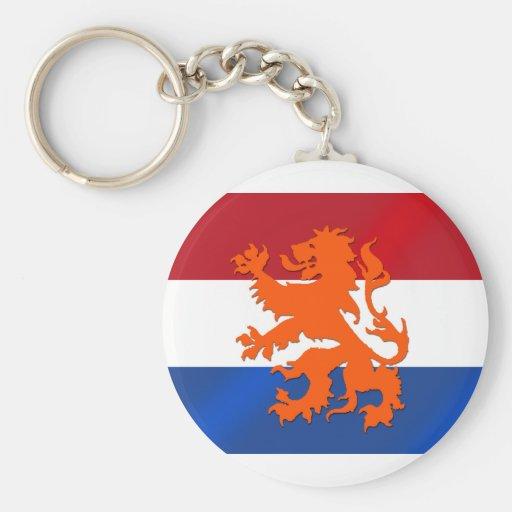 Bandera desenfrenada holandesa de Países Bajos del Llavero Redondo Tipo Pin