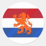 Bandera desenfrenada holandesa de Países Bajos del Etiquetas Redondas