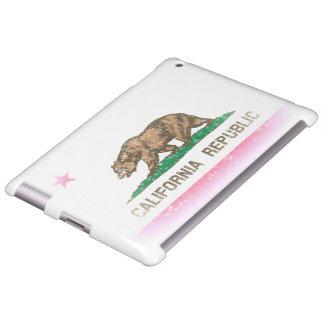 Bandera desteñida vintage de California Funda Para iPad