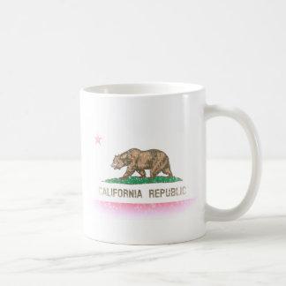 Bandera desteñida vintage de California Taza De Café