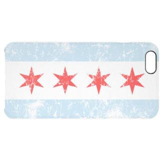 Bandera desteñida vintage de Chicago Funda Clearly™ Deflector Para iPhone 6 Plus De Unc