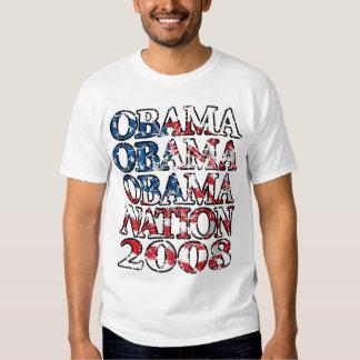 Bandera Destressed de la nación de Obama Playera