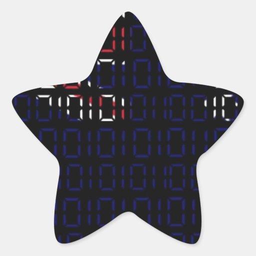 bandera digital (Australia) Pegatina En Forma De Estrella