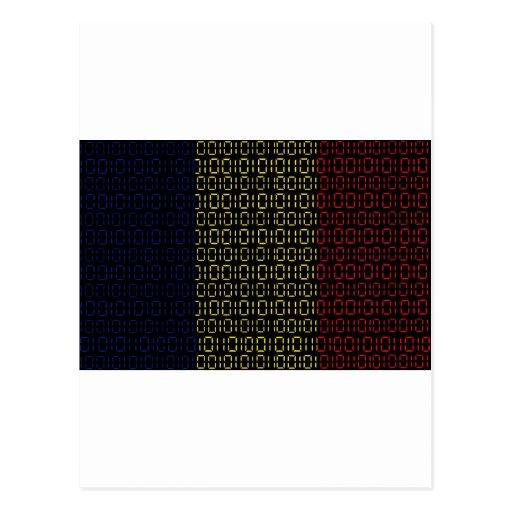 bandera digital (República eo Tchad) Tarjeta Postal