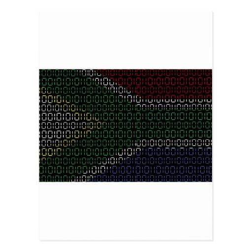 bandera digital Suráfrica Tarjeta Postal