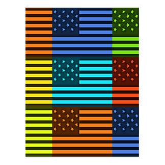 Bandera divertida de los E.E.U.U. Tarjeta Postal
