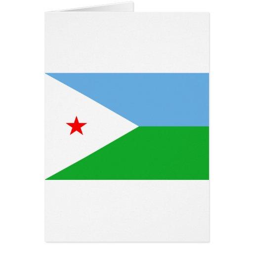 Bandera DJ de Djibouti Tarjeta De Felicitación
