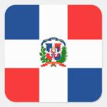 Bandera dominicana colcomanias cuadradases