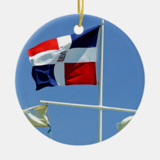 bandera dominicana ornamento de navidad