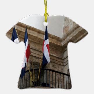 bandera dominicana adornos de navidad