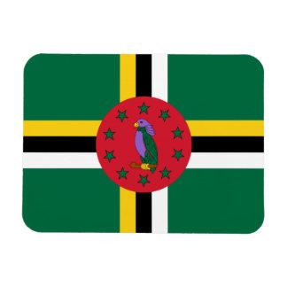 Bandera dominicana imán rectangular