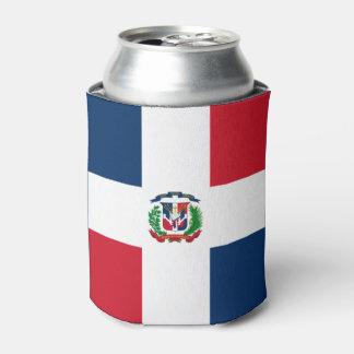 Bandera dominicana enfriador de latas