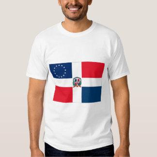 Bandera Dominicano-Americana Remera