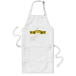 Bandera dorada y delantal de encargo del cocinero