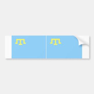 Bandera DOS de tártaros crimeos Pegatina Para Auto