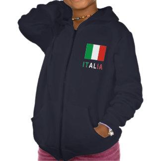 Bandera e Italia italianas Jersey Encapuchado