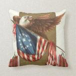 Bandera Eagle calvo de los E.E.U.U. del petardo de Almohadas