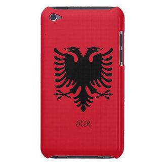 Bandera Eagle de la República de Albania en el Case-Mate iPod Touch Cárcasa
