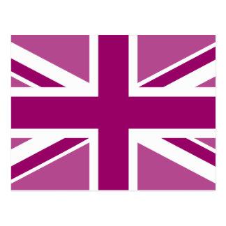 Bandera Editable de Union Jack del color Postales