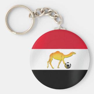 Bandera egipcia del balón de fútbol del camello de llavero personalizado