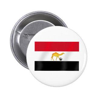 Bandera egipcia del balón de fútbol del camello de pin