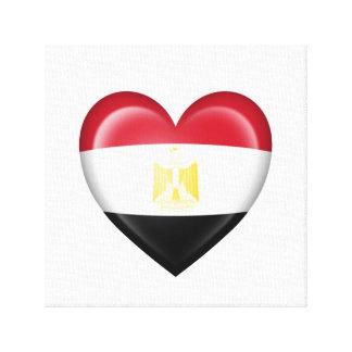 Bandera egipcia del corazón en blanco impresiones en lona estiradas
