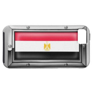 Bandera egipcia en un marco de acero funda para iPhone SE/5/5s