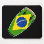Bandera el Brasil del Conga Tapete De Ratón
