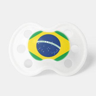 Bandera el Brasil. República Federativa hace el Br Chupete