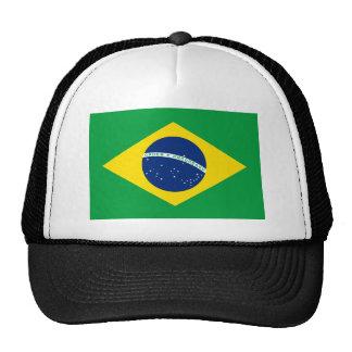 Bandera el Brasil. República Federativa hace el Br Gorro De Camionero