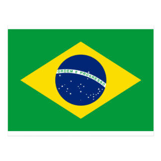 Bandera el Brasil. República Federativa hace el Br Postales