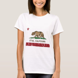 bandera el Etna de California apenado Playera