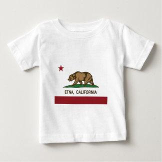 bandera el Etna de California Playera De Bebé