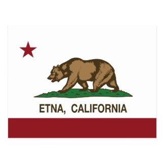 Bandera el Etna de la república de California Postal
