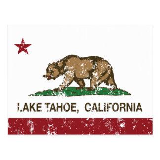 Bandera el lago Tahoe de la república de Californi Tarjeta Postal