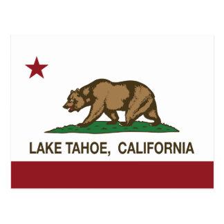 Bandera el lago Tahoe de la república de Californi Tarjetas Postales