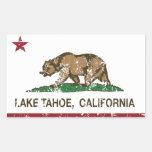 Bandera el lago Tahoe de la república de Rectangular Pegatinas