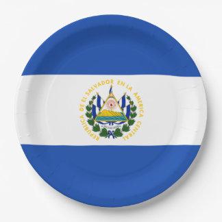 Bandera: El Salvador Platos De Papel