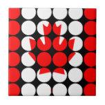 Bandera elegante femenina elegante del canadiense  azulejo ceramica