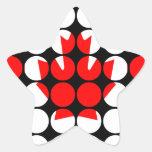 Bandera elegante femenina elegante del canadiense colcomanias forma de estrellaes personalizadas