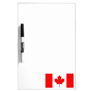 Bandera/emblema canadienses pizarras blancas de calidad