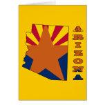 Bandera en el mapa Arizona Felicitaciones