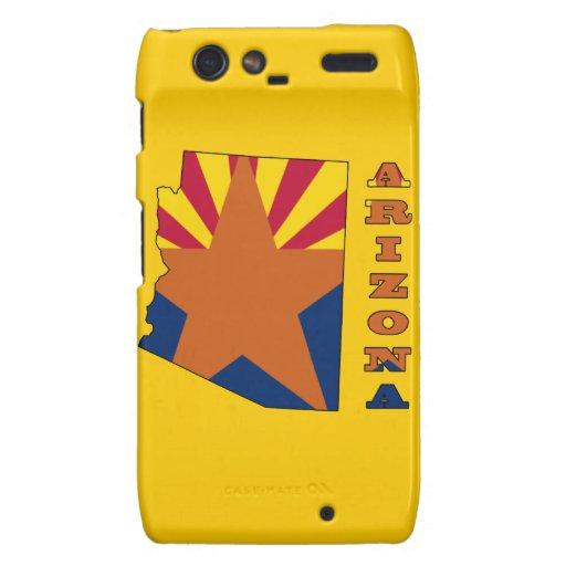 Bandera en el mapa Arizona Motorola Droid RAZR Carcasas
