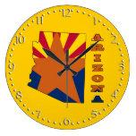 Bandera en el mapa Arizona Relojes