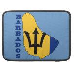 Bandera en el mapa Barbados Funda Macbook Pro